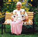 Anne Bowes and Pembroke Welsh Corgis