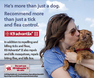 K9 Advantix II -- In addition to repelling and killing ticks and fleas, K9 Advantix II also repels and kills mosquitoes, repels biting flies, and kills lice.