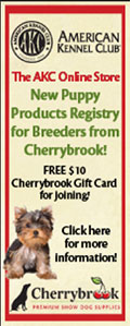 New Puppy Products Registry for Breeders - Free $10 Cherrybrook Gift Card for joining!