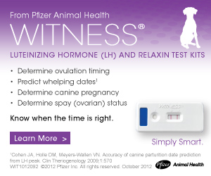 From Pfizer Animal Health Witness Luteinizing Hormone and Relaxin Test Kits