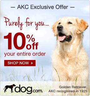 10% Off your entire order at dog.com