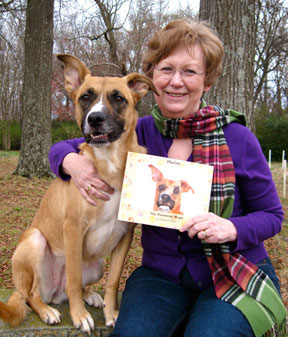 Harley with author Elisabeth Davis
