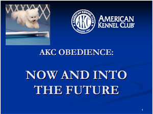 AKC Obedience: Now and Into the Future