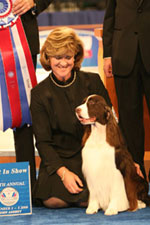 James, the AKC/Eukanuba National Championship Best in Show Winner