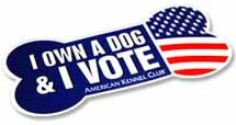 I own a dog and I vote!