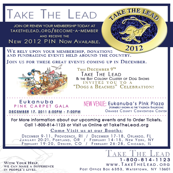 Take the Lead 2012. Renew your membership today.
