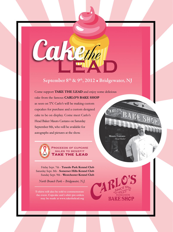 Cake the Lead. Support Take the Lead with cupcakes in Bridgewater, NJ. September 8 and 9