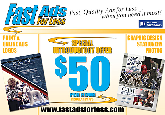 Fast Ads for Less. Special introductory offer of $50 per hour.