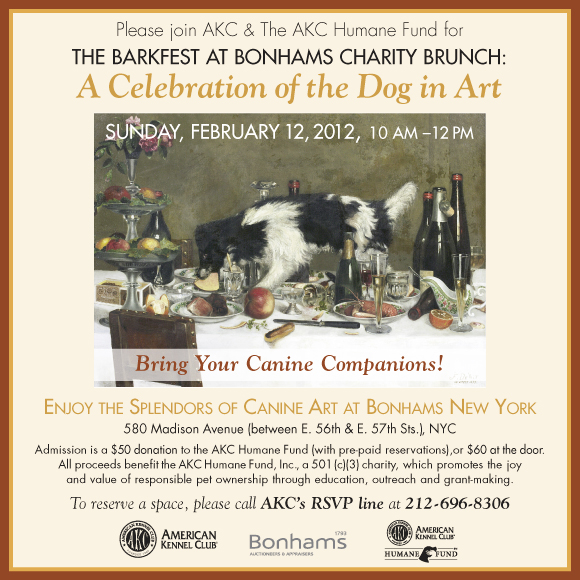 Barkfest. A Celebration of the Dog in Art. Reserve Your Space