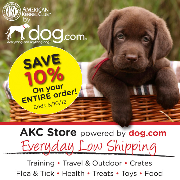 Save 10% on your entire order at Dog.com