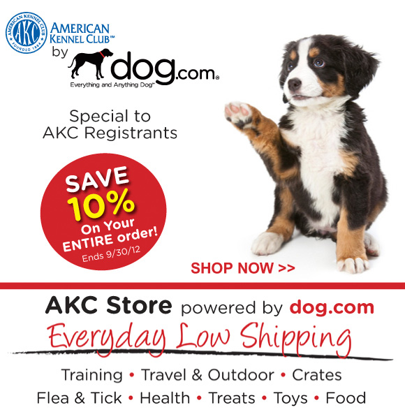 Save 10% at Dog.com