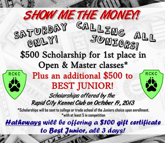 Rapid City Kennel Club Scholarships on October 19, 2013