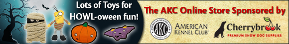 Lots of toys for Howl-oween fun! The AKC Online Store Sponsored by Cherrybrook