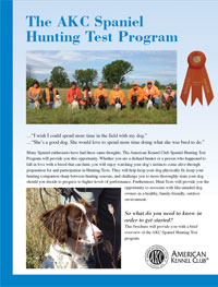 The AKC Spaniel Hunting Test Program